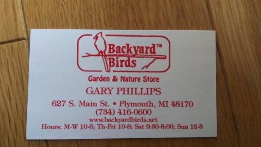 ミシガンの鳥のお店