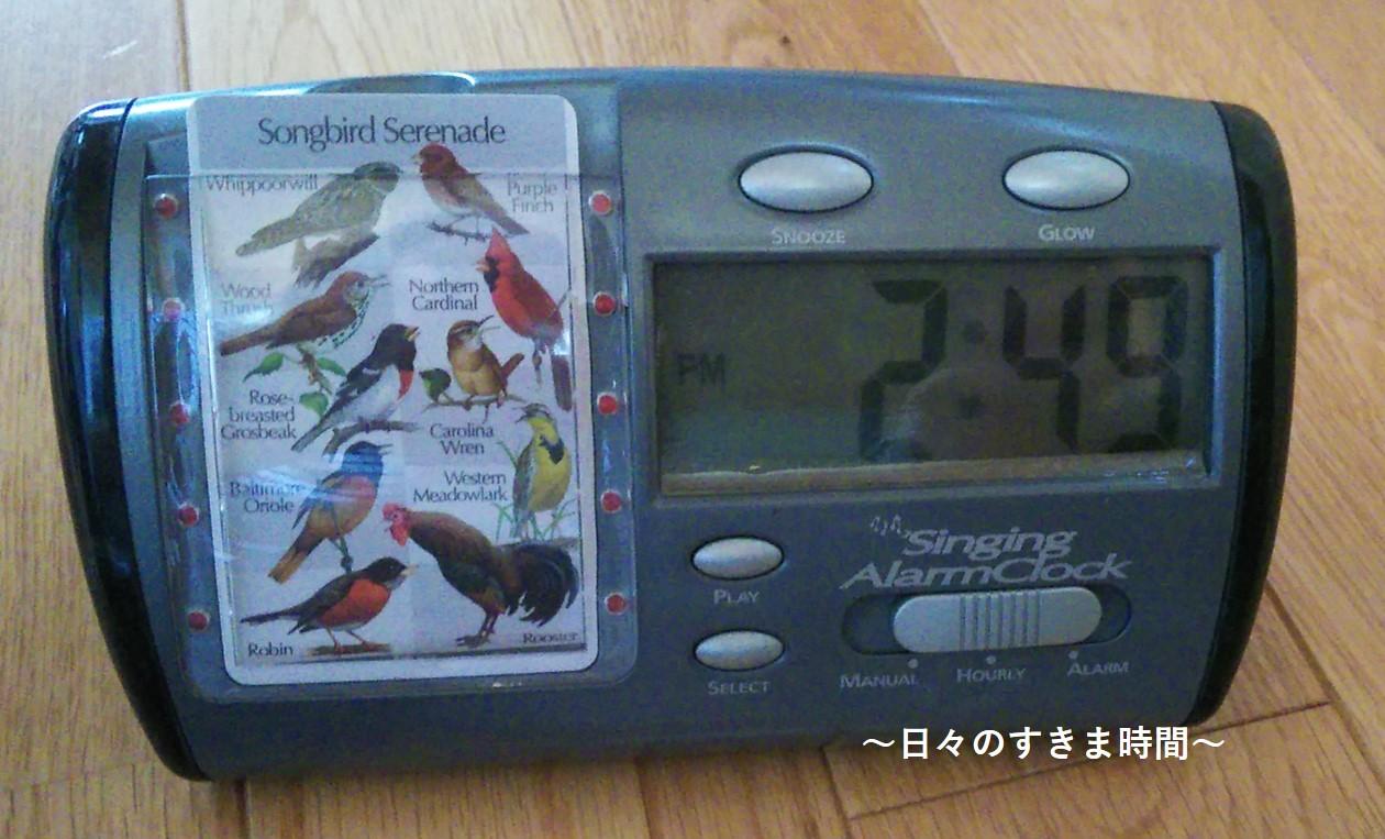 野鳥の置時計