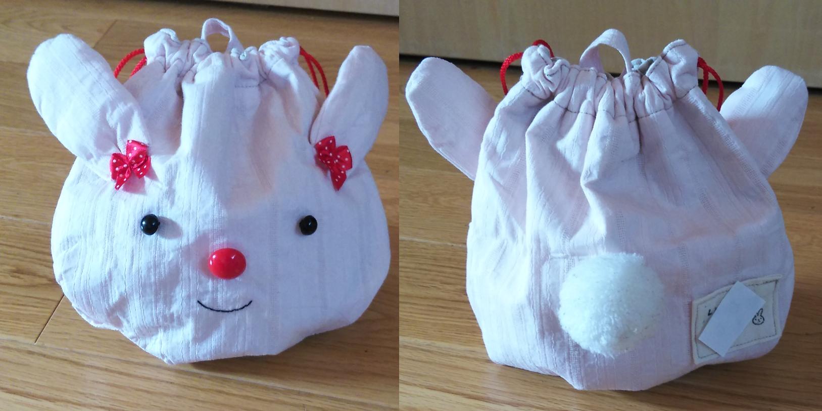 ウサギのコップ袋